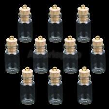 Set 10pcs Mini Glas Flaschen Glasflasche Wishing Glasfläschche Flaschenpost