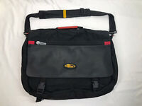 "Vintage! Rare! No Fear Crossbody Messenger Padded Laptop Black Big Bag 19"" X 14"""