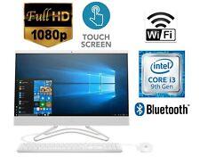 "HP 24"" All-in-One 1080p Touchscreen Computer 12GB 1TB Intel Core i3 9thGen White"