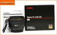 Sigma 30mm f1.4 EX DC HSM Lente Nikon Fit + Free UK Post