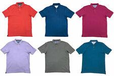 Mens Polo Shirts Ex Marks Spencer Shirt Top Pique 100% Cotton M&S Short Sleeved