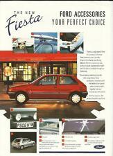 FORD FIESTA  ACCESSORIES SALES 'BROCHURE'/SHEET 1988 1989