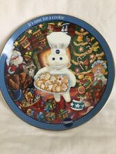 "Pillsbury Doughboy Danbury Mint Collector Plate, ""It's Time For A Cookie"" 2002"