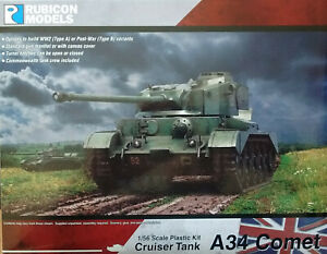 Rubicon 1/56 (28mm)  RB280094 British A34 Comet Cruiser Tank Model Kit
