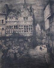 JULES DE BRUYCKER ETCHING, 1912
