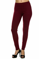 PLUS SIZE Buttery Soft Always Brushed Solid BurgundyLeggings TC/38