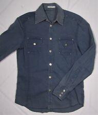 J LINDEBERG ~ 100% Cotton Long Sleeve Western Shirt ~ Men's Medium - Blue