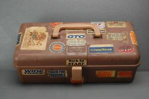 Vintage My Buddy Slot Car Tool Box w/ lots of cool vintage stickers