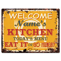 CMWB-0158 Welcome to RONNIE/'S WINE BAR Chic Tin Sign Man Cave Decor Gift