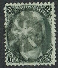 USA 1862 SG69/Sc.73 2c Grey-Black Cork Fancy Cancel Fine Used Cat. £65.00