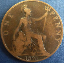 1896 QUEEN VICTORIA ONE PENNY 1d - JUBILEE HEAD COIN !