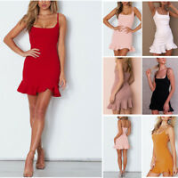 Women Sexy Summer Bandage Bodycon Evening Party Cocktail Short Mini Dress Charm