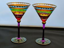 Pair Colorful Festive Martini Glasses Pier 1 One
