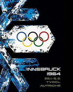 "1964 Innsbruck Austria Olympics - Mini Poster  8""x10"" Color Photo"