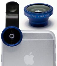 3-in-1 180° Blue Fish Eye Fisheye+Wide Angle+Macro Lens Clip On for iPhone 5 5s