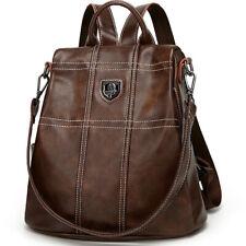Genuine Leather Women's Backpack Travel Bag Rucksack Crossbody Bag School Bag