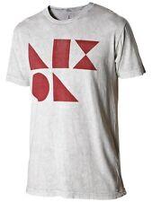 Nixon Dieter Camiseta de Manga Corta Camiseta (S) Vintage Blanco S1663667-02