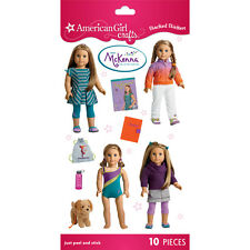 AMERICAN GIRL MCKENNA 10 STACKED STICKERS! GYMNASTICS~SCHOOL OUTFITS! DOG COOPER