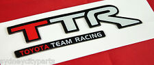 TOYOTA TTR DECAL TOYOTA TEAM RACING ZZT231 CELICA NEW GENUINE RAISED DECAL