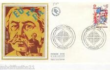 1980//ENVELOPPE SOIE**FDC 1°JOUR!!**EUROPA-ARISTIDE BRIAND**TIMBRE Y/T 2085