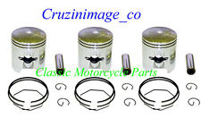 KAWASAKI H1 62mm 2.0mm OVERSIZE PISTON SET Three Pistons Include CI-H1PS-4