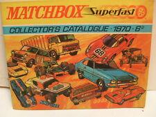 MATCHBOX SUPERFAST LESNEY COLLECTOR'S CATALOGUE CATALOG 1970-6D