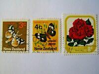 Nouvelle Zélande Timbres  3 valeurs  Sellos Briefm. Stamps