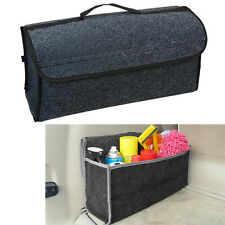 Multi-use Gray Felt Trunk Organizer Car SUV Storage Bag Travel Boot Box Foldable