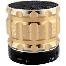 Wireless Bluetooth Lautsprecher gold Speaker Sound Box Radio SD USB AUX