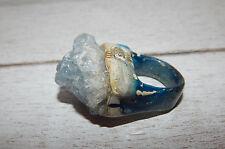 ANTHROPOLOGIE RING 7 DARA ETTINGER CRYSTAL BLUE QUARTZ RAW ARTISAN #158  #D10