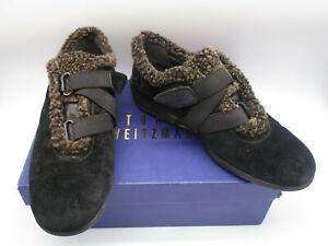 STUART WEITZMAN Leanto black suede short boot/ sneaker sz 9