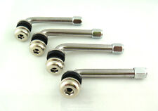 "4 PCS. 2.5"" CHROME TIRE VALVE STEMS 90 DEGREE ANGLED SIZE XL."