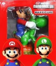 New Super Mario Bros Wii MAX FIGURE Mario & Yoshi green Japan