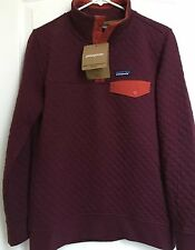 NWT Patagonia Women's Cotton Quilt Snap-T Pullover Violet Red XL