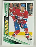 2019-20 Upper Deck PARKHURST #310 RYAN POEHLING RC Rookie Montreal Canadiens
