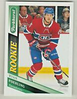 2019-20 Upper Deck PARKHURST #310 RYAN POEHLING RC Rookie Montreal Canadiens