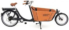 Babboe City-E 50cm braun Lastenrad f 1-3 Kinder Fahrrad Cargo E-Bike Pedelec