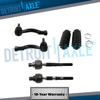All (4) New Inner & Outer Tie Rod End Links + Boots Fits 2003-2009 Kia Sorento