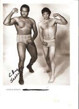 Charlie Sarrott +  unknown star 1970s Wrestling promotionl photo picture NWA ICW