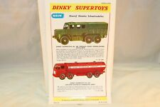 Dinky Super Toys Poster 689/943 Artillery Truck/Leyland in good+ condition