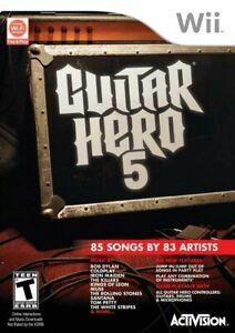 Guitar Hero 5 - Nintendo  Wii Game