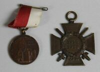 A4/ Ehrenkreuz Frontkämpfer Kreuz - WW1 - Pforzheim + Medaille Pfullendorf /S267
