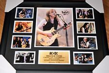 Latest Malcolm Young ACDC Signed Memorabilia framed;LIMITED EDITION to 250 COA