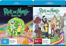 RICK AND MORTY - SEASON 1 & 2 -   Blu Ray - Sealed Region B & for UK