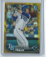 2016 Bowman Chrome Draft Auto Jake Fraley 1st Gold Refractor  21/50