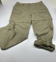 THE NORTH FACE WOMENS SZ 8 CONVERTIBLE 3 IN 1 NYLON HIKING CARGO ZIP OFF PANTS