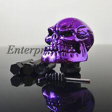 Skull Head FOR Car Truck Manual Stick Gear Shift Knob Lever Shifter Purple NEW