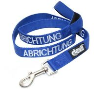 Pet Dog Leash German Color Coded Blue ABRICHTUNG Helpful Assistance Safe Warning