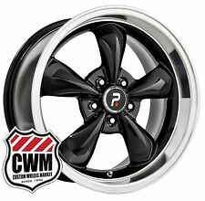"(2) 18x9"" OE Performance 106B Bullitt Ford Mustang Black Wheels Rims 5x114.3 +30"