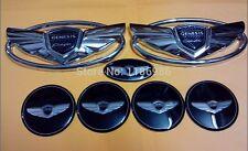 7pcs/set 3D Silver Genesis Wing Badge Emblem For Hyundai Genesis Coupe